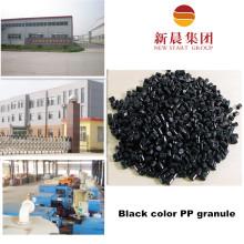 Рециркулированное Черное зерно пластмассы PP