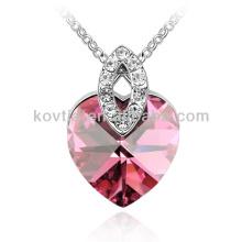 Großhandel charmante Herzform Rubin Halskette für Frauen