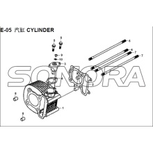 E-05 CYLINDER XS150T-8 CROX Para SYM Spare Part Top Quality