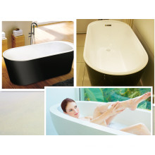 Color Black Skirt White Tub Free Standing Bath