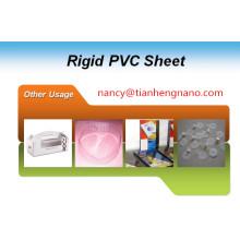 Película rígida de alto brillo y excelente PVC Processablity para accesorios de prendas de vestir