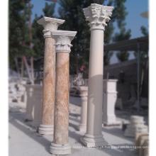 Colunas de casa de alta qualidade projeta pilar de mármore romano para venda
