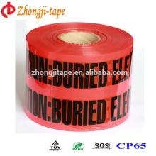 Высокое качество красный подземные электрические линии разметки ленты