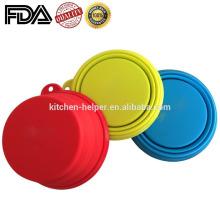 Grade de alimentos de moda antiaderente Foldable Silicone Dog Cat tigelas Silicone novidade Pet Bowls / colapsável Pet Dog Cat Bowl