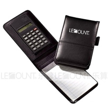 Leather Notebook with Calculator, Ballpen and Memo (LC806A-1)