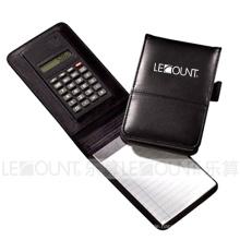 Leder Notizbuch mit Taschenrechner, Kugelschreiber und Memo (LC806A-1)
