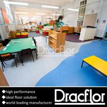 Fácil instalação de rolo de revestimento de vinil para jardim de infância