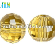 Perles de boule disco en cristal à facettes chinoises de perles de couleur 5003 / jonquil