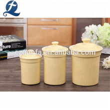 Popular Color Ceramic Bulk Tea Coffee Sugar Canister Set With Lid