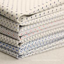 115gsm 40x40+40D/128x64 prited cotton stretch poplin shirts fabric