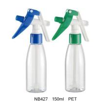 Botella de plástico de 100 ml con pulverizador de gatillo para limpieza (NB422)