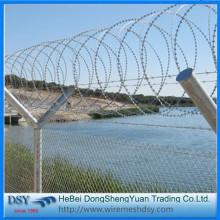 Concertina razor wire heavy galvanized razor barbed wire