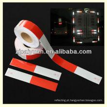 vermelho-branco fita reflexiva para faixa reflexiva da motocicleta/reboque