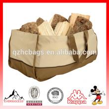 Sacola durável da madeira do fogo do portador do log do saco da lenha da lona