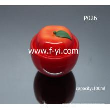 100ml bonito tomate-como cosméticos creme frasco vazio