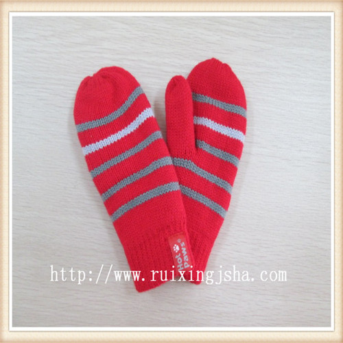 unisex children strip mittens