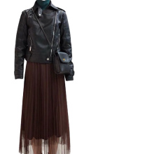 Korean Fashion Lace Silk Gauze Loose Princess Skirt