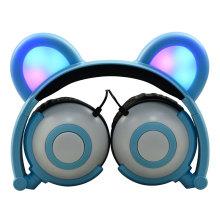 holiday gifts bear ear lighting headphone for children