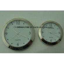 Custom 43mm 60mm Silver Metal Clock Insert for Promotion Gift