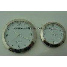 사용자 지정 43mm 60mm 실버 메탈 시계 삽입 프로 모션 선물