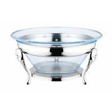 Glass Salad Bowl /Food Warmer