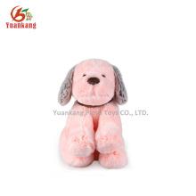 YK SA8000 fábrica felpa mini perro de peluche rosa cachorro con collar