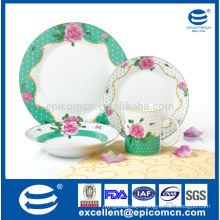 16pcs New Bone China Dinnerware with beautiful flower Service of 4, hot new products for 2015