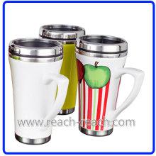 Pared doble cerámica taza de café (R-3060)