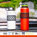 Double Wall Stainless Steel Vaccum 32oz Water Bottle with Colorful Sleeve