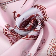 Mulitcolor nouveau style meilleur vente impression numérique véritable foulard carré en soie
