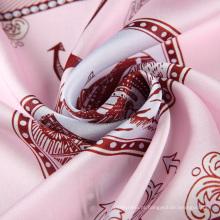 Mulitcolor novo estilo melhor venda digital impressão lenço quadrado de seda real