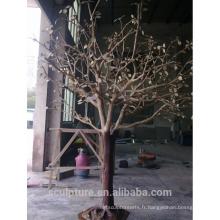 Arbre à feuilles caduques sculpture artificielle sculpture arbre vie