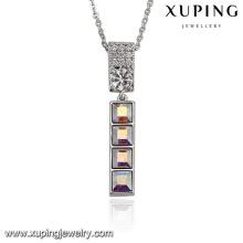 43602-vente en gros de bijoux en argent avec des cristaux de Swarovski, faux collier de barres en or