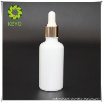 30ml wholesale empty white essential oil glass dropper bottle glass cosmetics jar bottle