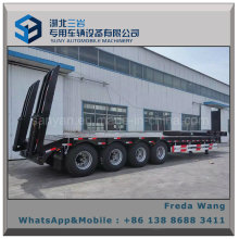 25t - 200tons 4 Axles Low Bed Semi Truck Trailer