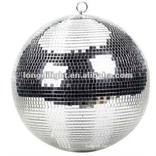 "12"" MIRROR DISCO BALL SILVER GLITTER PARTY DECORATION GRAD DANCE"
