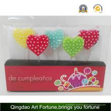Nueva vela de fiesta de cumpleaños de diseño para decoración de eventos