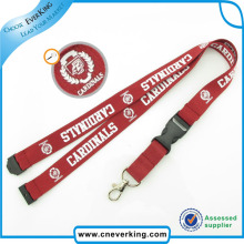 Hot Sale Silkscreen Printed Neck Lanyard with safety Buckle