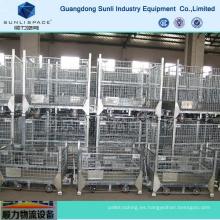 Contenedor de malla de alambre de acero plegable de almacenamiento