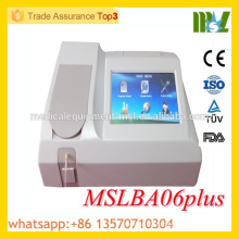 MSLBA06plus-M High quality Fully automatic biochemistry analyzer Semi-automatic chemistry analyzer with CE ISO