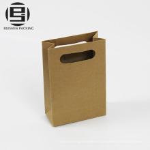 Bolsa de papel kraft reciclado de bajo costo con asa