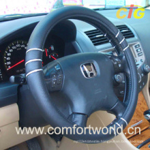 Leather Steering Wheel Cover (SAFJ03950)