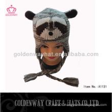 russian wholesale knitted women Winter Animal Hats