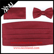 Wedding Use Mens Fashion Polyester Bowtie and Cummberbund Men's Set