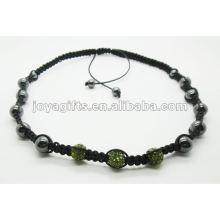 Collier shamballa en cristal 3PCS avec perles en hématite