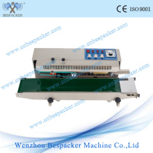 Sellador de plástico continuo con codificación y contador de tinta sólida