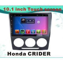 Автомобильный DVD-навигатор с системой Android GPS для Honda Crider 10,1-дюймовый емкостной экран с телевизором / WiFi / Bluetooth / MP4