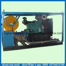 Grand système de nettoyage à haute pression de rondelle de machine de nettoyage de tuyau d'égout