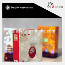 Hologram bopp plastic metallized film for cigarette packaging