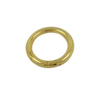 Cheap Handbag Hardware Gold Metal Round Adjustable Ring